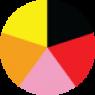 Crna boja, Crvena boja, Pink boja, Narandžasta boja, Žuta boja