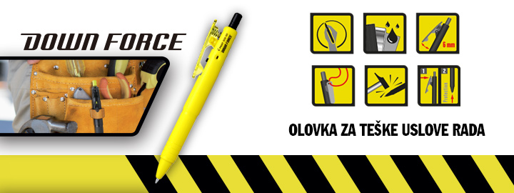 Down force Pilot : Hemijske olovke