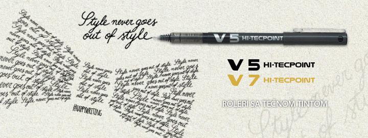 Pilot V5/V7 Hi-Tecpoint Roleri sa tečnom tintom