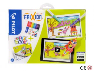 FriXion Colors - Set My FriX Book x 12 - Sortno boja - Srednji Vrh